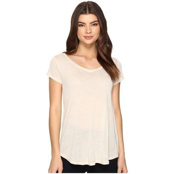 Vêtements Femme T-shirts manches courtes Obey LOU Ecru