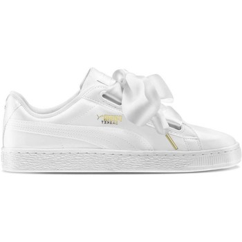 Chaussures Femme Baskets mode Puma Basket Heart Patent Zapatillas Blancas Mujer Blanc