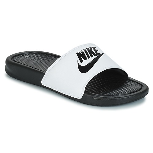 buy online 16eed cc1d7 Chaussures Homme Claquettes Nike BENASSI JUST DO IT Blanc   Noir