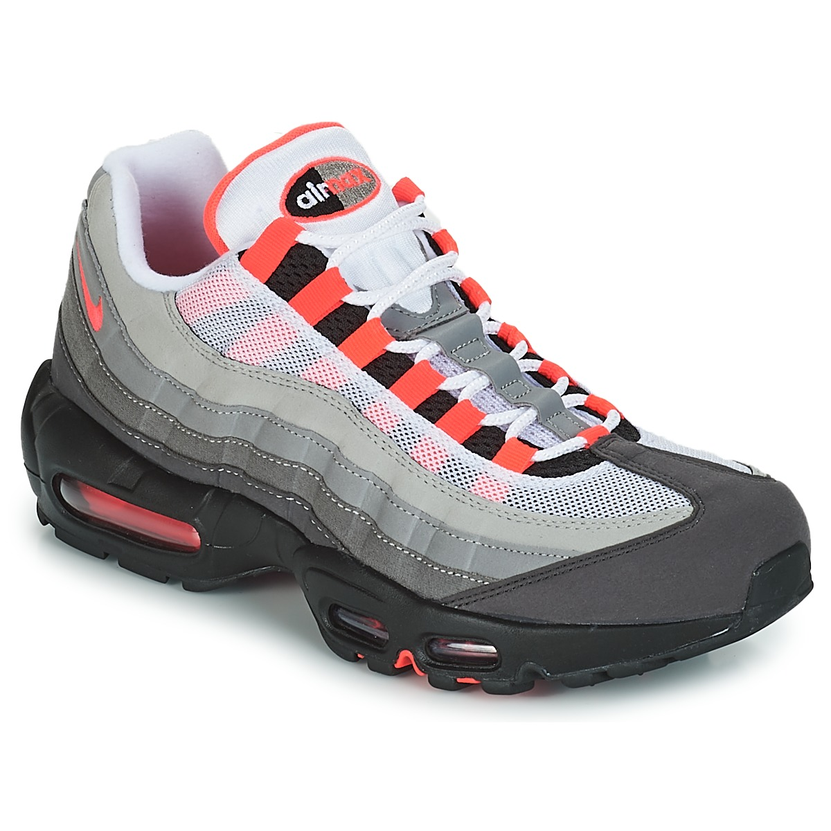 Nike AIR MAX 95 OG Blanc / Rouge - Chaussures Baskets basses Homme ...