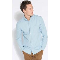 Vêtements Homme Chemises manches longues Kronstadt JOHAN DENIM TWILL Bleu Ciel