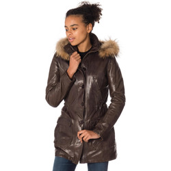 Vêtements Femme Vestes en cuir / synthétiques Daytona 73 SHERYL FUR SHEEP AOSTA R/BROWN Marron