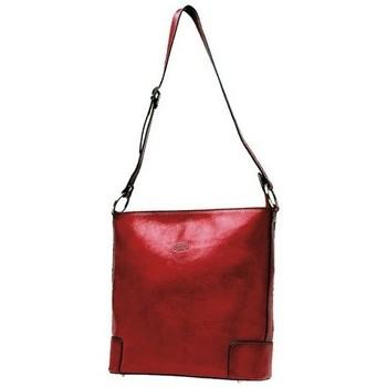 Sacs Femme Besaces Katana Besace en cuir de Vachette collet K 82596 Rouge