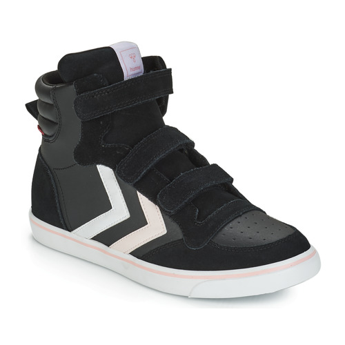 Chaussures Fille Baskets montantes Hummel STADIL LEATHER JR Noir
