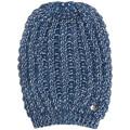 Guess Bonnet en Maille motif Bicolore Bleu