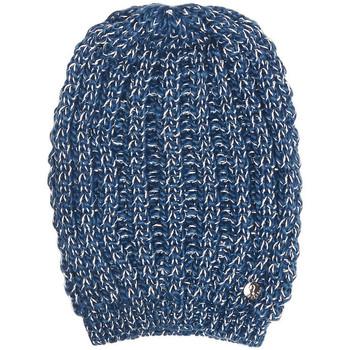 Bonnet Guess bonnet en maille motif bicolore bleu