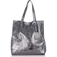 Sacs Femme Cabas / Sacs shopping Laura Moretti Sac HELENA Femme Collection Automne Hiver Argent