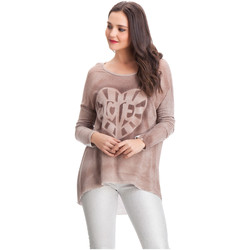 Vêtements Femme Pulls Laura Moretti Pull JENYFER Femme Collection Automne Hiver Rose