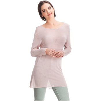 Vêtements Femme Pulls Laura Moretti Pull DENY Femme Collection Automne Hiver Rose