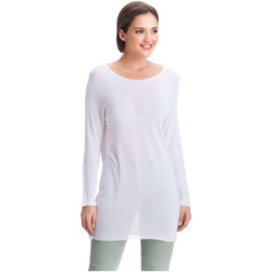 Vêtements Femme Pulls Laura Moretti Pull DENY Femme Collection Automne Hiver Blanc