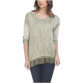 Vêtements Femme Tops / Blouses Laura Moretti Top manches longues NAYLA Vert