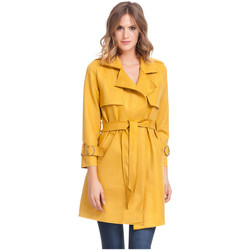Vêtements Femme Trenchs Laura Moretti Trench LINETTE Femme Collection Automne Hiver Moutarde