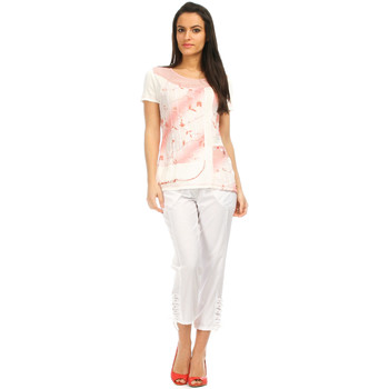 Vêtements Femme Pantacourts S Quise Pantacourt HAPPY Femme Collection Printemps Eté Blanc
