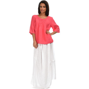 Vêtements Femme Tops / Blouses 100 % Lin Top CERISE Femme Collection Printemps Eté Corail