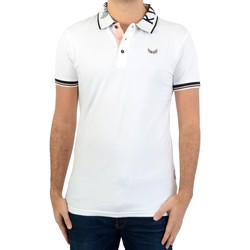 Polos à manches courtes Front Up Rugby blancs Fashion homme TTnWn