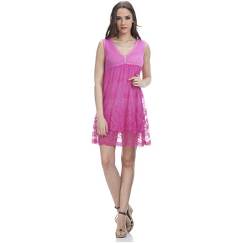 Vêtements Femme Robes courtes Tantra Robe en dentelle LAURA Femme Collection Printemps Eté Fushia