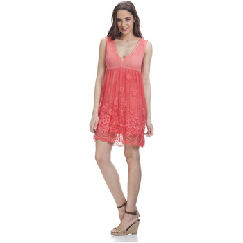 Vêtements Femme Robes courtes Tantra Robe en dentelle LAURA Femme Collection Printemps Eté Rouge