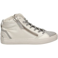 Chaussures Femme Baskets montantes Crime London JAVA MID blanc