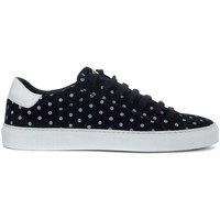 Chaussures Homme Baskets basses Hide&jack Sneaker  Low Top Pois in pelle nera Noir