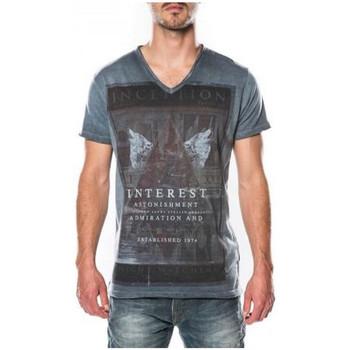 Vêtements Homme T-shirts manches courtes Deeluxe T-shirt  Inception bleu nuit 38