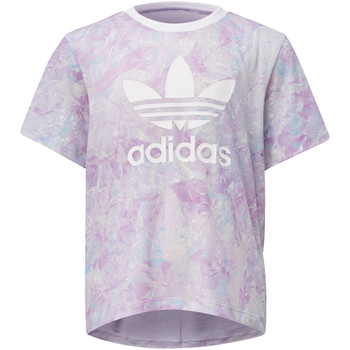 Vêtements Fille T-shirts manches courtes adidas Originals T-shirt GRPHC Rose / Multicolore / Blanc