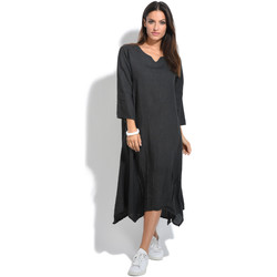 Vêtements Femme Robes longues 100 % Lin Robe RODEO Anthracite