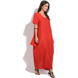 Vêtements Femme Robes longues 100 % Lin Robe SOFIA Femme Collection Printemps Eté Rouge