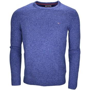 Vêtements Homme Pulls Tommy Hilfiger Pull col rond Tommy Hilfiger Dénim bleu en laine pour homme Bleu