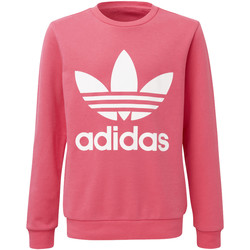 Vêtements Fille Sweats adidas Originals Sweat-shirt Trefoil Crew Blanc