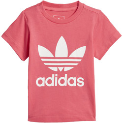 Vêtements Fille T-shirts manches courtes adidas Originals T-shirt Trefoil Blanc