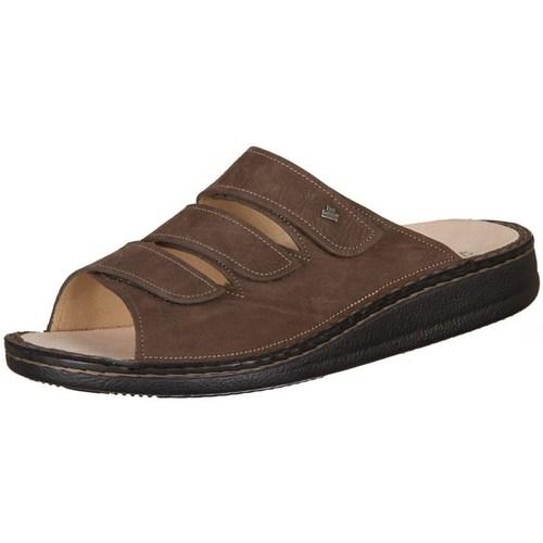 Finn Comfort Korfu Tabak Carat Marron - Chaussures Mules Homme