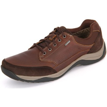 Chaussures Homme Baskets basses Clarks Baystonego Gtx Mahagony Leather Marron