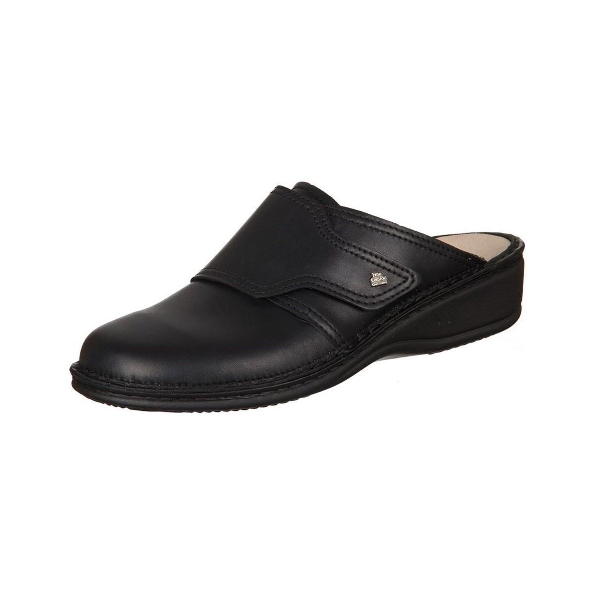 Finn Comfort Aussee Nappa Seda Noir - Chaussures Sabots Femme
