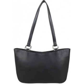 Sacs Femme Sacs porté épaule Duolynx Sac épaule en cuir  forme petit cabas trapèze Noir