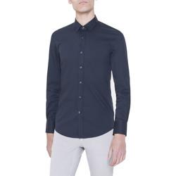 Vêtements Homme Chemises manches longues Antony Morato MMSL00375/FA450001 bleu