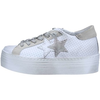 Chaussures Femme Baskets basses 2 Stars 2S1875 Basket Femme White / Ice White / Ice