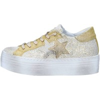 Chaussures Femme Baskets basses 2 Stars 2S1877 Basket Femme Ice / Gold Ice / Gold