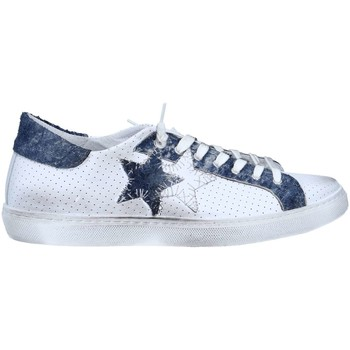 Chaussures Homme Baskets basses 2 Stars 2S1822 Basket Homme White / Blue White / Blue
