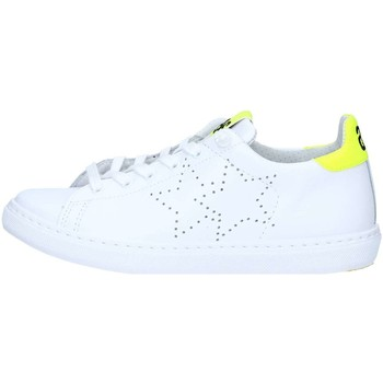 Chaussures Baskets basses 2 Stars 2S1890 Basket Unisexe White / Yellow fluo White / Yellow fluo