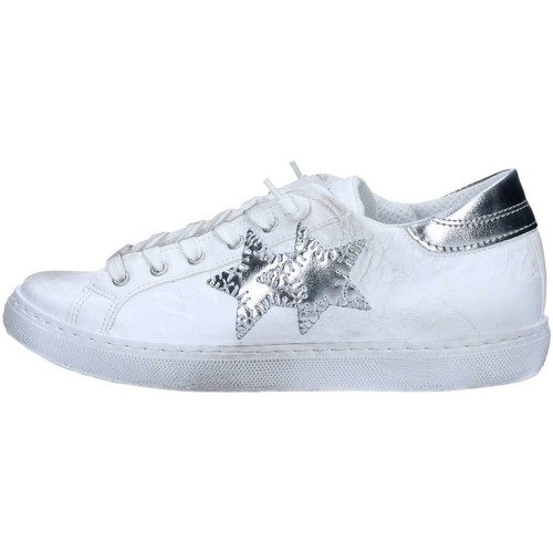 2 Stars 2S1807 Basket Femme White / Silver White / Silver - Chaussures Baskets basses