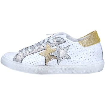 Chaussures 2 stars 2s1824 basket femme white / silver / gold