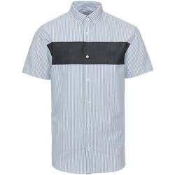 Vêtements Homme Chemises manches courtes Kronstadt CHEST STRIPE Bleu