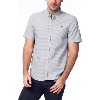 Vêtements Homme Chemises manches courtes Fred Perry POLKA Gris