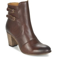 Chaussures Femme Boots Kickers Femme kickers boots double boucles Marron