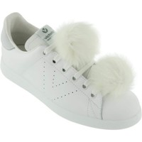 Chaussures Femme Baskets mode Victoria Femme victoria sneakers pompons blancs blanc