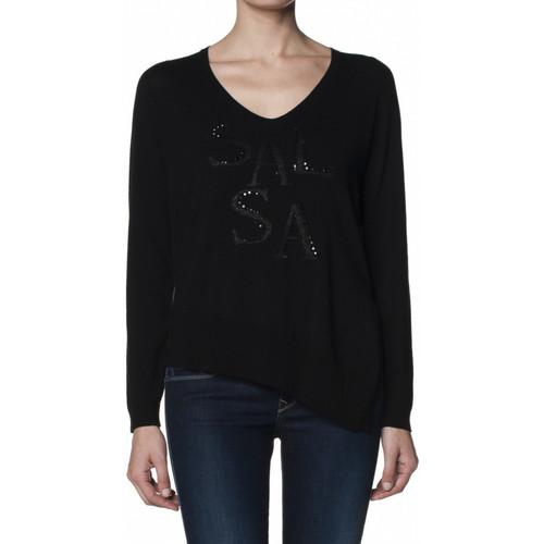 Vêtements Femme T-shirts manches longues Salsa T-shirt  Germany noir