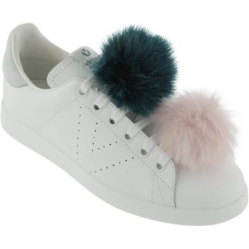 Chaussures Femme Baskets mode Victoria Femme victoria sneakers pompons rose blanc