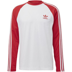Vêtements Homme T-shirts manches longues adidas Originals T-shirt 3-Stripes Rouge