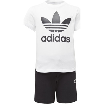 Vêtements Enfant T-shirts manches courtes adidas Originals Ensemble Trefoil Short and Tee Blanc / Noir