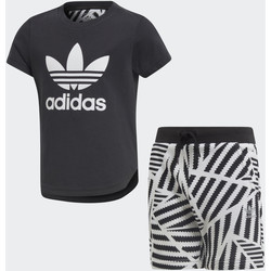 Vêtements Garçon Ensembles enfant adidas Originals Ensemble GRPHC Shorts and Tee Noir / Blanc